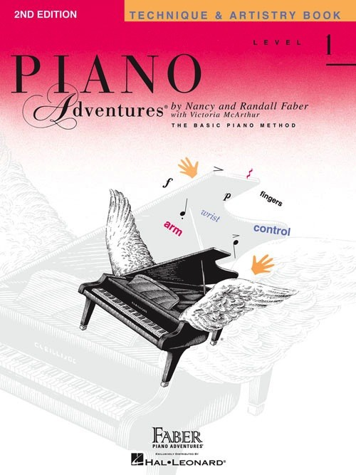 Piano Adventures Level 1 - Technique & Artistry Book - 2nd Edition