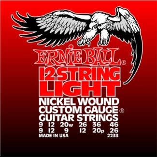 Ernie Ball 2233 12-String Electric Guitar Strings - Light