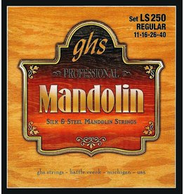 .011-.040 Regular Guage Mandolin Strings, Silk And Steel