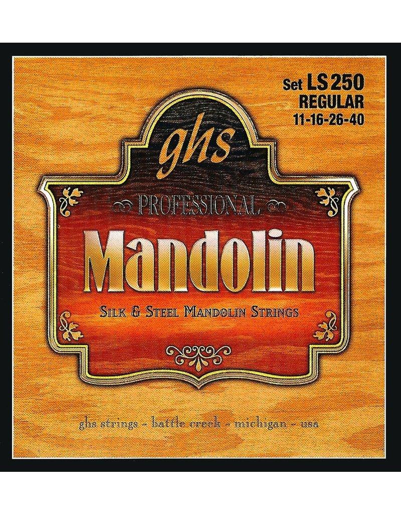 .011-.040 Regular Guage Mandolin Strings, Silk And Steel