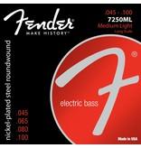 Fender .045-.100 Meduim Light Gauge Electric Bass Strings, Nickel Plated Steel, Long Scale, Set of 4