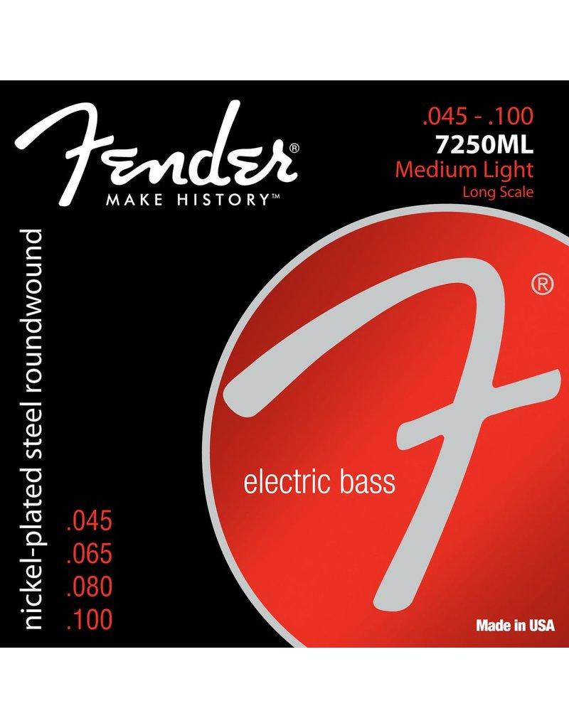 Fender 7250ML Nickel Plated Steel Bass Strings - Medium/Light