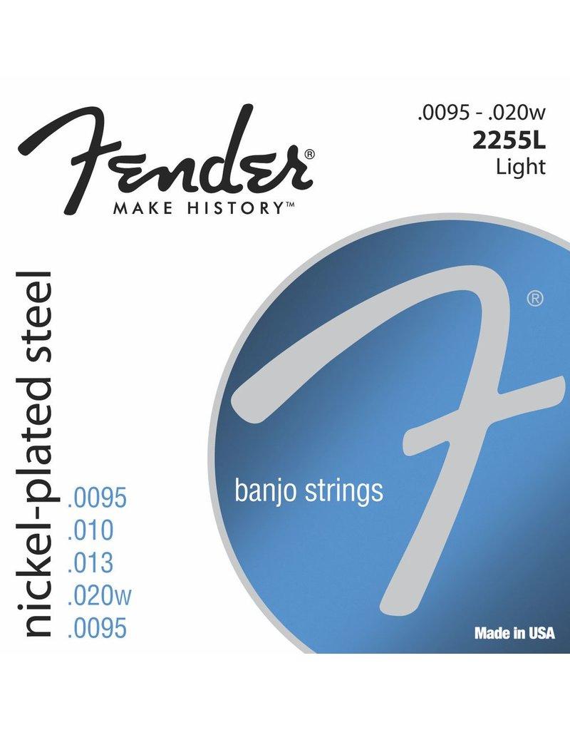 Fender 2255L Nickel Plated Steel Banjo Strings - Light