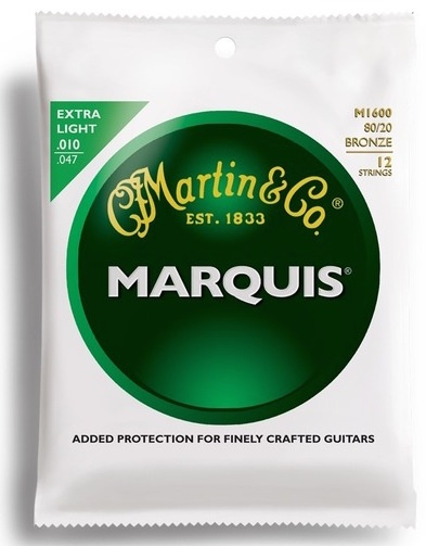 Martin Marquis Extra-Light 12 String Acoustic Guitar Strings