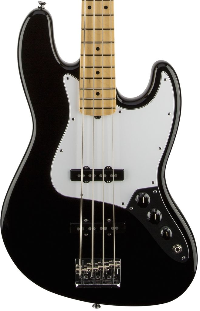 Fender American Standard Jazz Bass®, Maple Fingerboard, Black