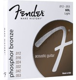Fender 60L Phosphor Bronze Acoustic Guitar Strings - Light