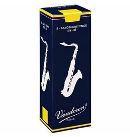 Vandoren Tenor Saxophone <br />#2 1/2 Reeds<br />(Box of 5 Reeds)
