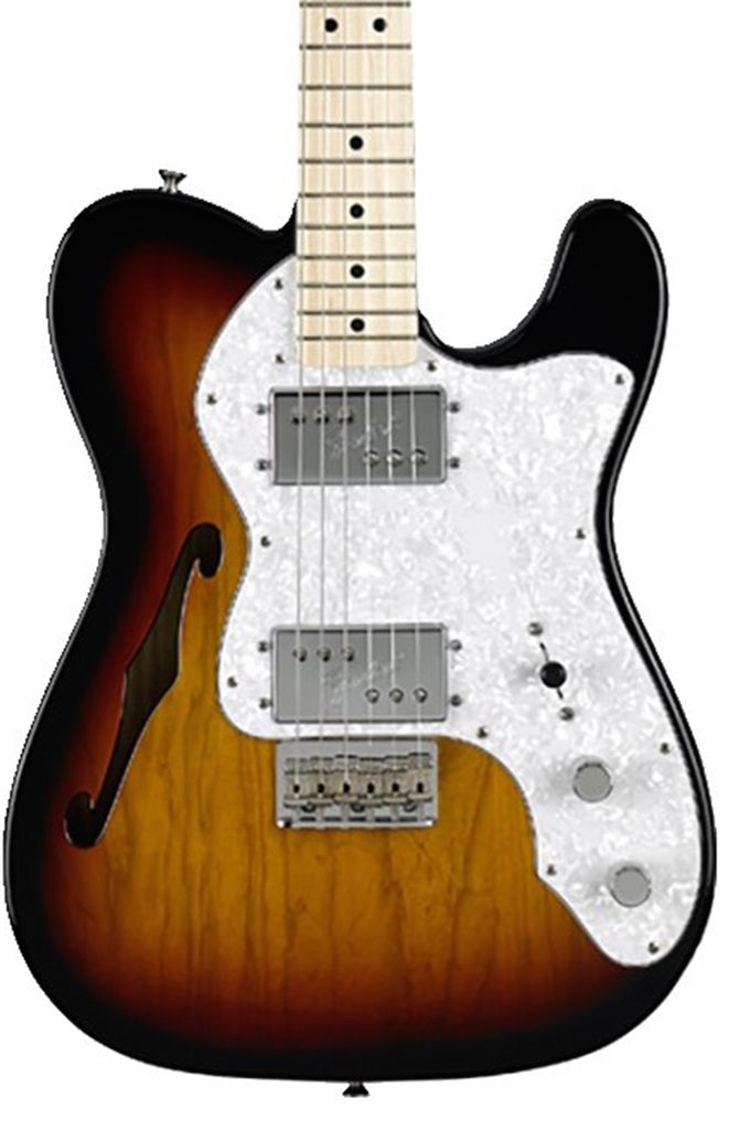 Fender Classic Series '72 Telecaster® Thinline, Maple Fingerboard, 3-Color Sunburst
