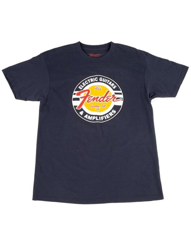 Fender Fender® Guitars and Amps Logo T-Shirt, Navy, M