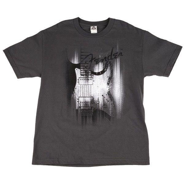 Fender Fender® Airbrushed Strat T-Shirt, Gray, XL