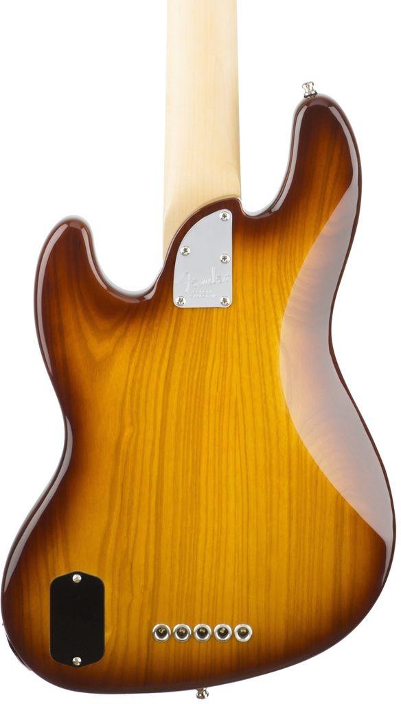 Fender American Elite Jazz Bass® V Ash, Maple Fingerboard, Tobacco Sunburst