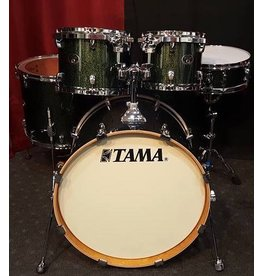 Used Tama Silverstar All Birch Shell Pack- Green Sparkle