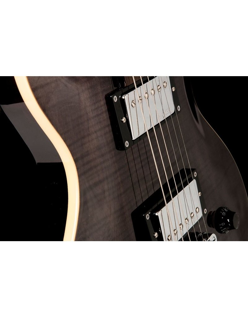 "Hamer Hamer ""The Archtop"" Double-Cutaway, Carved Flame Top, Tune-o-matic bridge, Trans Black"