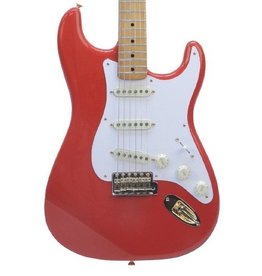 Fender Fender FSR Limited Edition '50 Stratocaster - Fiesta Red, Gold Hardware Includes Tweed Hardshell Case
