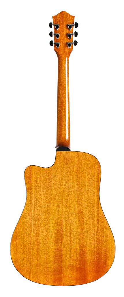 Guild D-120CE Dreadnought All Solid Mahogany Natural w/ Deluxe Case