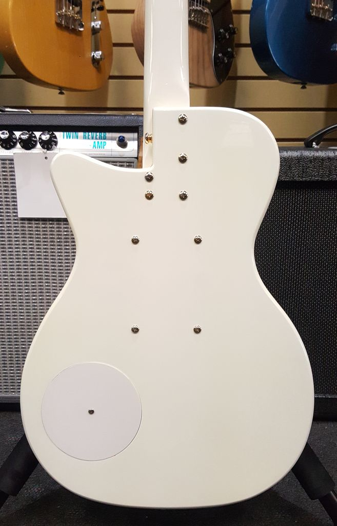 Used Danelectro '56 Single Cutaway Full Bell 2011 Anniversery Model - White w/ Gold