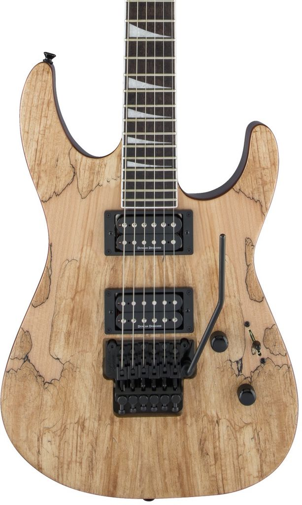 Jackson X Series Soloist™ SLX Spalted Maple, Dark Walnut Fingerboard, Natural