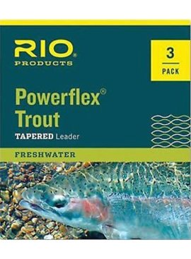 Rio RIO POWERFLEX TAPERED LEADER  7.5 FEET 3 PACK