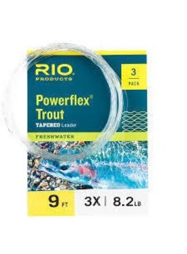 Rio RIO POWERFLEX TAPERED LEADER  9 FEET 3 PACK