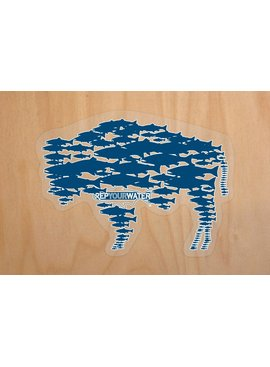 Rep Your Water REP YOUR WATER BUFFALO STICKER BLUE MED