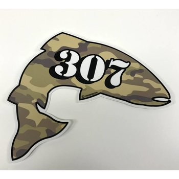 307 AREA CODE TROUT DECAL