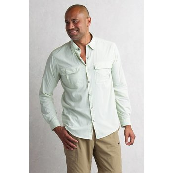 EXOFFICIO BUGSAWAY HALO CHECK LS SHIRT