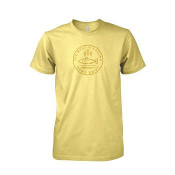 Dead Drift DEAD DRIFT FLY THE CALLING TEE YELLOW