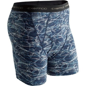 EXOFFICIO GIVE-N-GO BOXER BRIEF NAVY FISH