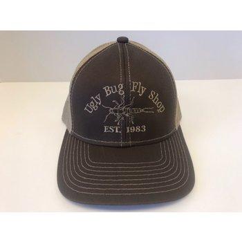 UGLY BUG FLY SHOP TRUCKER HAT BROWN/ KHAKI