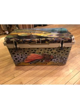 Yeti Tundra 75 Qt Cooler Tan with Ty Hallock Artwork