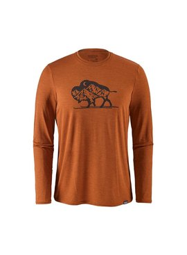 Patagonia Patagonia M's Cap Daily L/S Graphic T-Shirt Nordic Bison: Copper Ore X-Dye