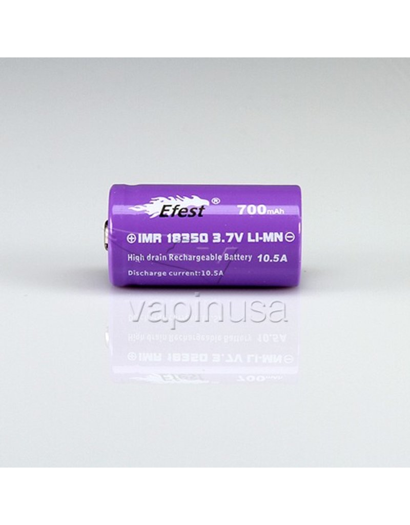 Efest Efest Battery   18350, 700mAh, 10.5A   Flat Top