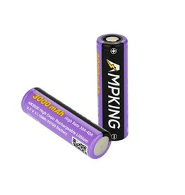 Ampking Ampking 20700 Battery | 3000mAh 30A | Flat Top