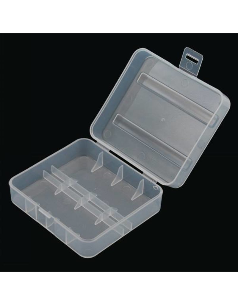 26650 Hard Plastic Battery Case | 2-Bay | Clear