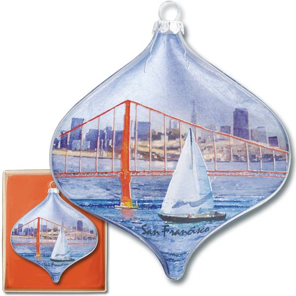 Sailing thru Golden Gate Boxed Ornament