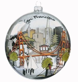 The City Glass Ornament, Gift Boxed