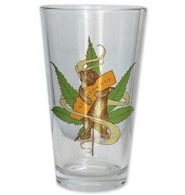 Cannabis Bear Pint Glass