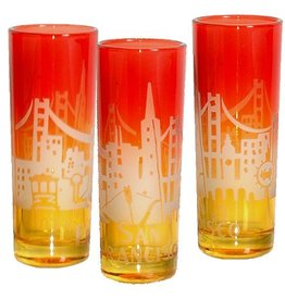 SF Sunrise Skyline Shot Glass