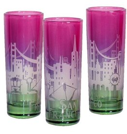 SF Twilight Skyline Shot Glass