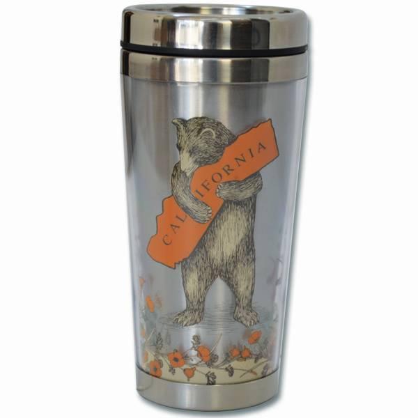 CA Bear Poppy Stainless Steel Travel Mug