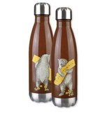 CA Bear Hug Stainless Steel Water Bottle, Brown