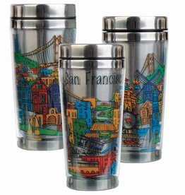 SF Whimsy Stainless Steel Travel Mug - Shipping 5/15/17