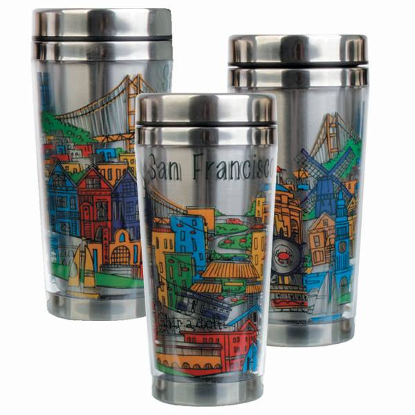 SF Whimsy Stainless Steel Travel Mug