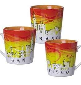 SF Sunrise Skyline Mug, Orange Interior