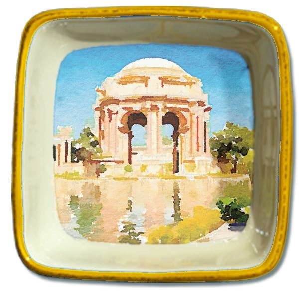 Palace of Fine Arts, Watercolor, Small Trinket Tray
