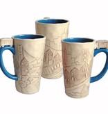 Cityscape Mug, Blue Interior