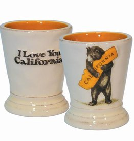 CA Bear Hug Ceramic Shot Glass