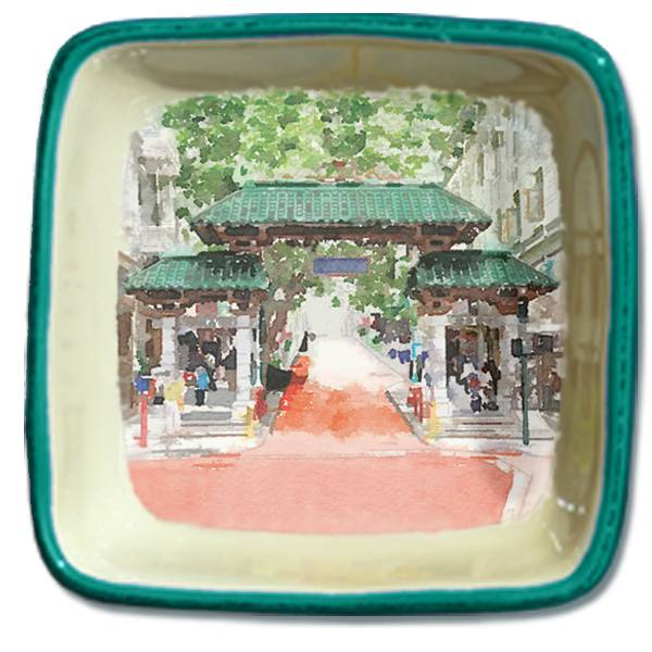 Gates of Chinatown, Watercolor, Small Trinket Tray