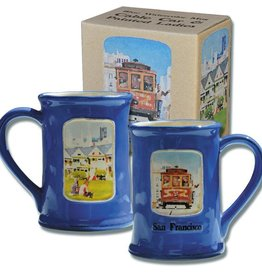 Cable Car & Victorians Watercolor Mug