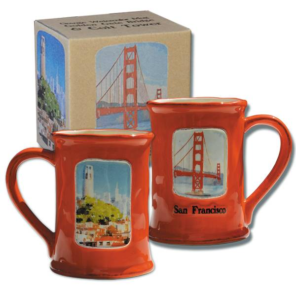 Golden Gate Bridge & Coit Tower Mug
